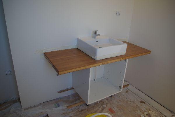 Meuble salle de bain avec meuble cuisine Salle de bain avec plan de travail